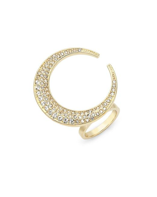 CC SKYE | Metallic 18k Yellow Gold Crescent Moon Ring | Lyst