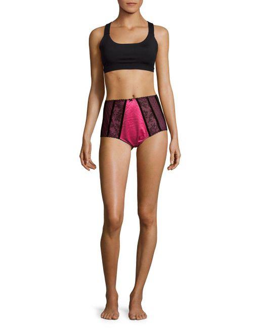 Dita Von Teese - Pink Parisienne Lace High-waist Briefs - Lyst