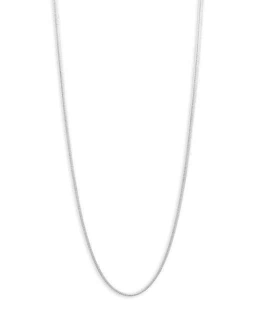 Perepaix - Metallic Silvertone Snake Chain Necklace - Lyst
