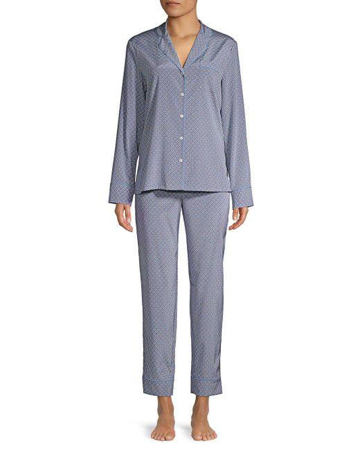 Stella McCartney - Blue Two-piece Poppy Snoozing Stretch-silk Pajama Set - Lyst