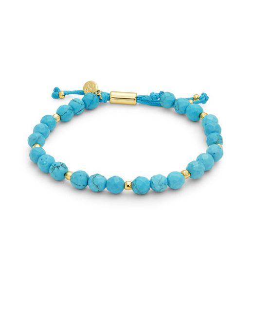 Gorjana - Blue Power Gemstone Bead Bracelet - Lyst