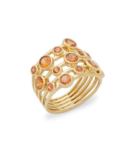 Ippolita - Metallic Glamazon Dark Orange Sapphire And 18k Gold Stardust Constellation Ring - Lyst