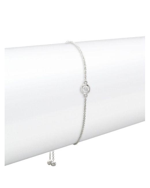 Effy - 14k White Gold & Diamond Bracelet - Lyst