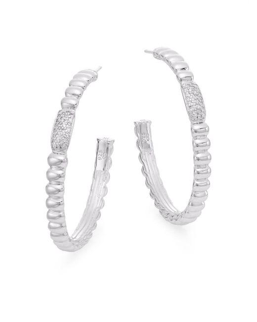 """John Hardy - Metallic Bedeg 0.30 Tcw Diamond & Sterling Silver Hoop Earrings/1.5"""" - Lyst"""