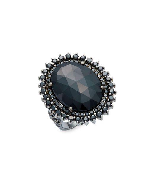 Bavna | Metallic Black Spinel & Sterling Silver Ring | Lyst