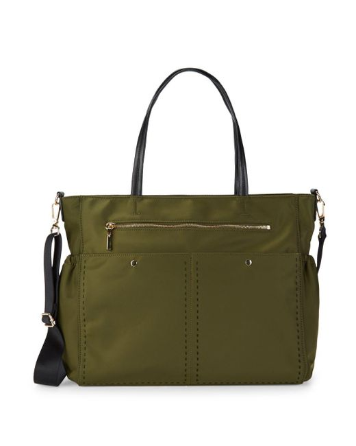 MILLY - Green Solid Stitch Diaper Bag - Lyst