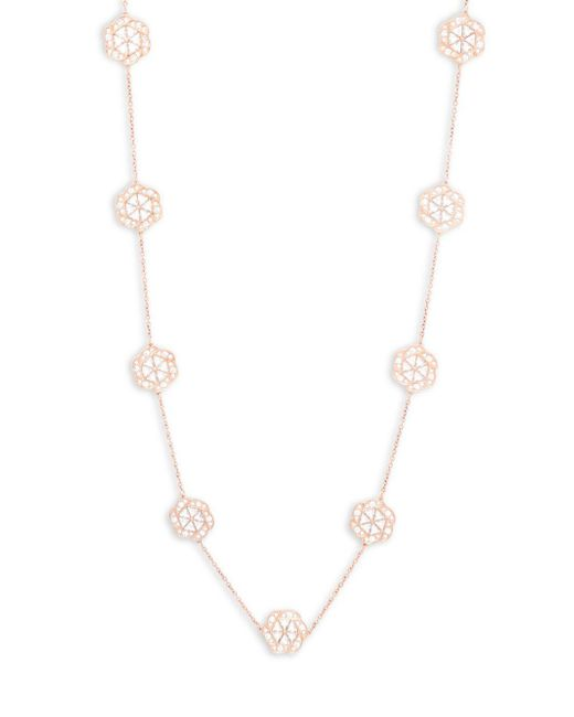 Swarovski | Metallic Clear Crystal Single Strand Necklace | Lyst