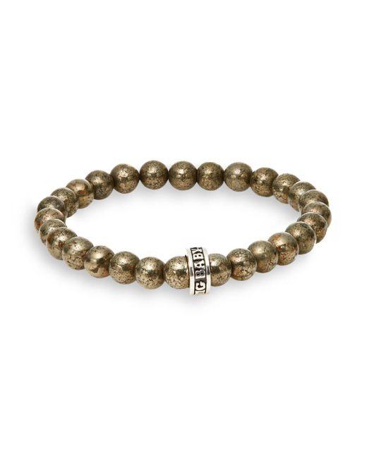 King Baby Studio - Metallic Pyrite Bead Bracelet for Men - Lyst