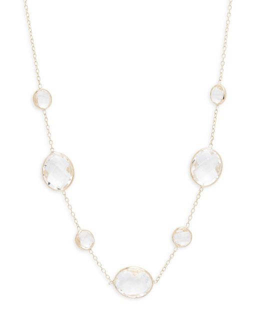 Saks Fifth Avenue - Metallic Clear Quartz Single Strand Necklace - Lyst