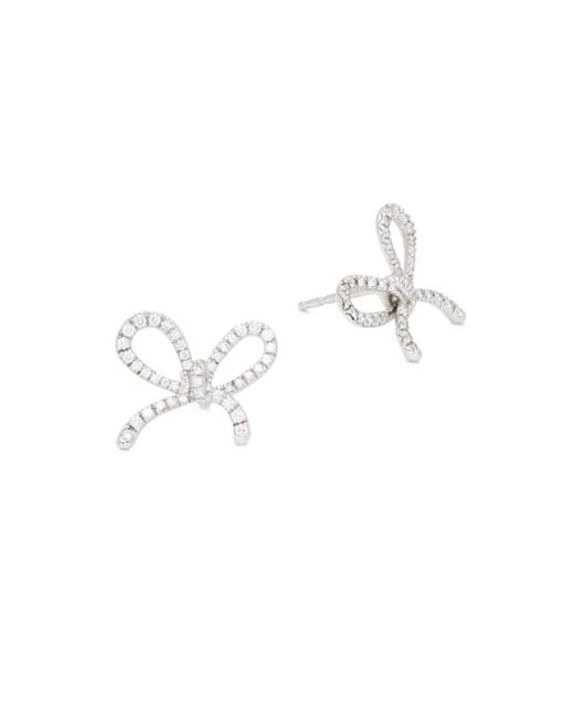 Kwiat - Metallic Elements Diamond & 18k White Gold Ribbon Earrings - Lyst