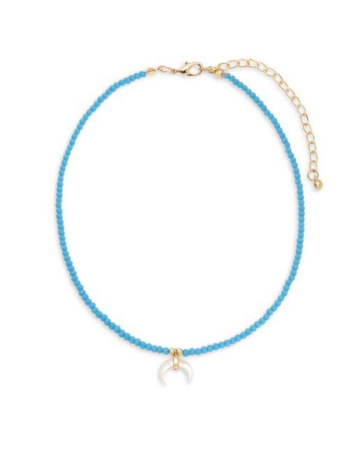 Saks Fifth Avenue | Blue Rose Goldtone Beaded Choker | Lyst
