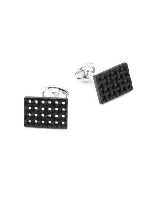 Jan Leslie - Black Onyx And Sterling Silver Rectangle Cuff Links for Men - Lyst