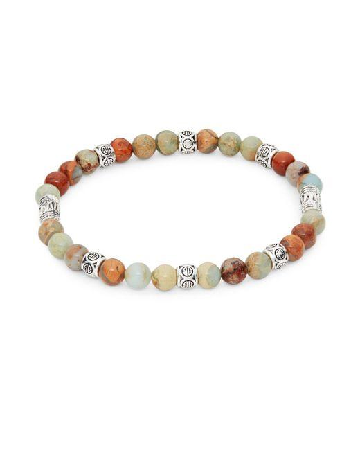 Perepaix - Metallic Multicolored Agate Beaded Bracelet - Lyst