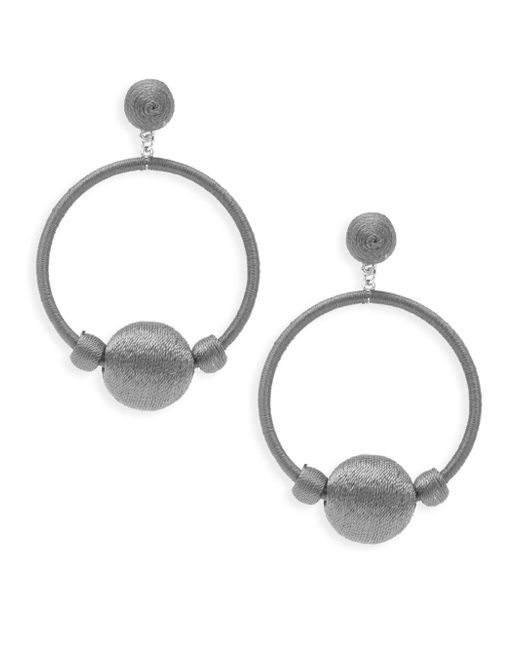 Gemma Simone | Gray Round Drop Earrings | Lyst