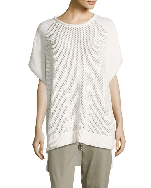 French Connection - White Fishermens Solid Ribbed-hem Top - Lyst