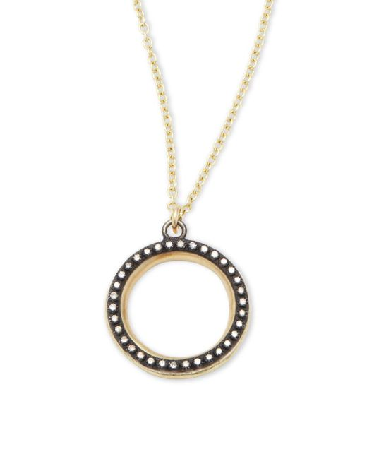 Armenta - Metallic Old World Champagne Diamonds, 18k Yellow Gold & Sterling Silver Round Pendant Necklace - Lyst