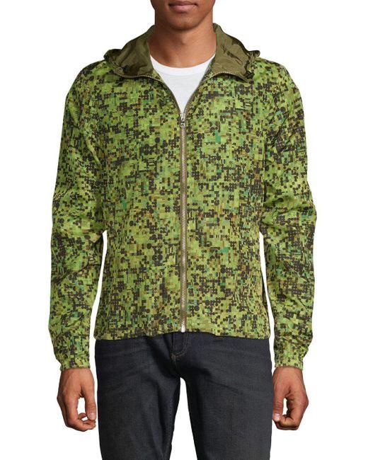 Orlebar Brown - Green Collins Camouflage Windbreaker for Men - Lyst