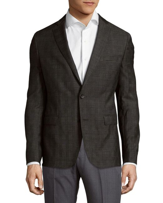 BOSS - Gray Wool Sportcoat for Men - Lyst