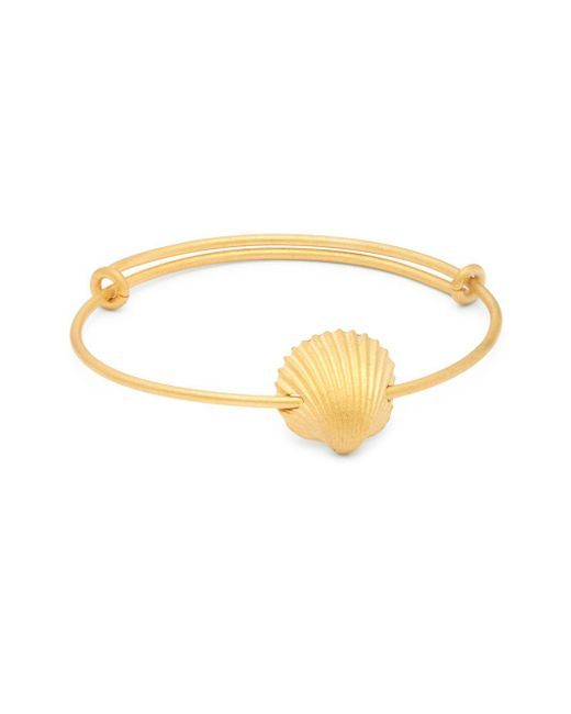 Valentino - Metallic Matte Goldtone Charm Bracelet - Lyst