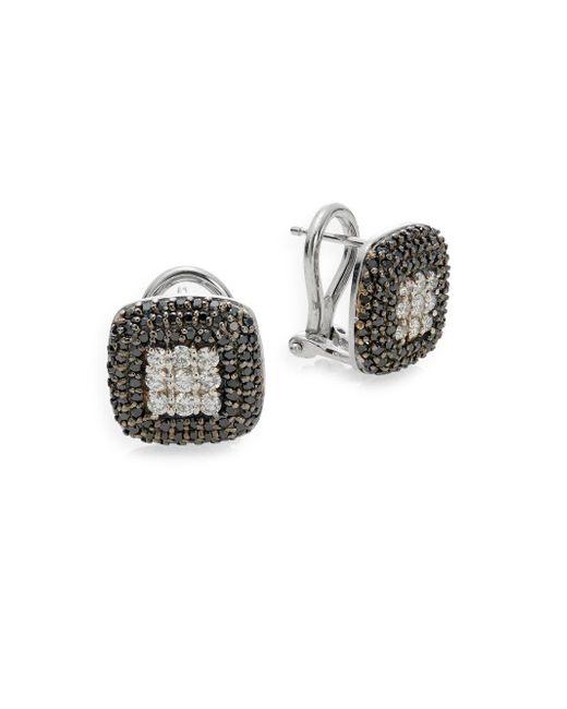Effy | Metallic 0.39 Tcw Diamond & 14k White Gold Oval Drop Earrings | Lyst