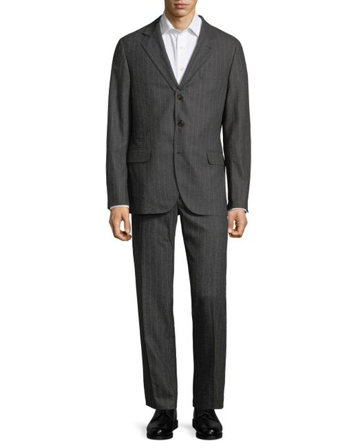 Brunello Cucinelli - Gray Stripe Suit for Men - Lyst