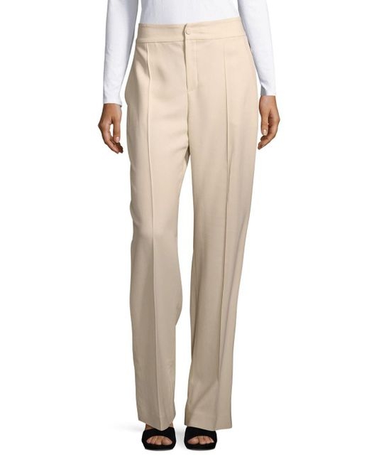 Lanvin - Natural Classic Office Style Pants - Lyst