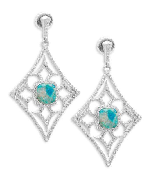 Armenta - Multicolor New World Gemstone & Diamond Large Cut-out Drop Earrings - Lyst