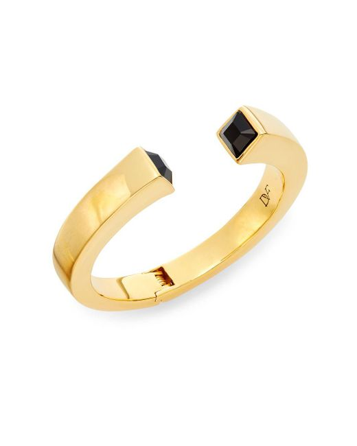 Diane von Furstenberg | Metallic Cubism Swarovski Crystal Geometric Bracelet | Lyst
