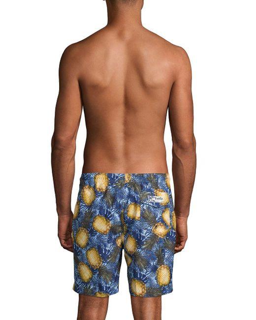 7a16411254 ... Onia - Blue Pineapple-print Swim Shorts for Men - Lyst