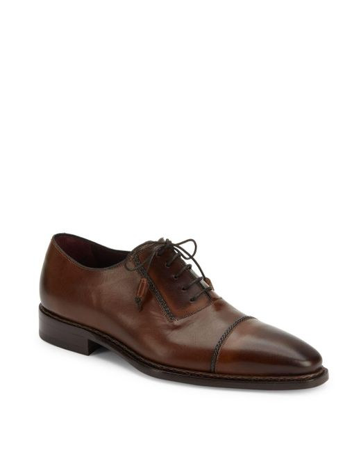 Mezlan | Brown Nantes Leather Oxford Shoes for Men | Lyst
