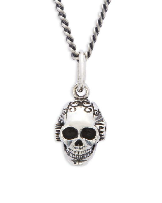 King Baby Studio - Metallic Victorian Gear Skull Pendant Necklace for Men - Lyst