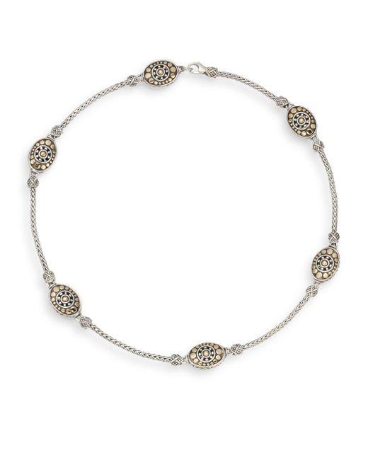 John Hardy - Metallic Jaisalmer Dot Sterling Silver & 18k Yellow Gold Sautoir Necklace - Lyst