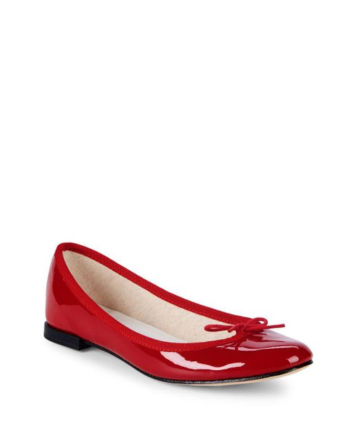 Repetto - Red Cendrillon Patent Leather Ballet Flats - Lyst