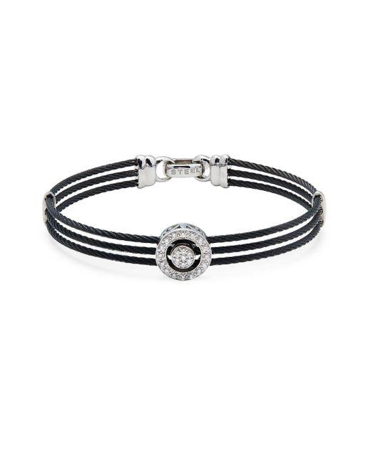 Alor | Black Diamond & 18k White Gold Multi-strand Bracelet | Lyst