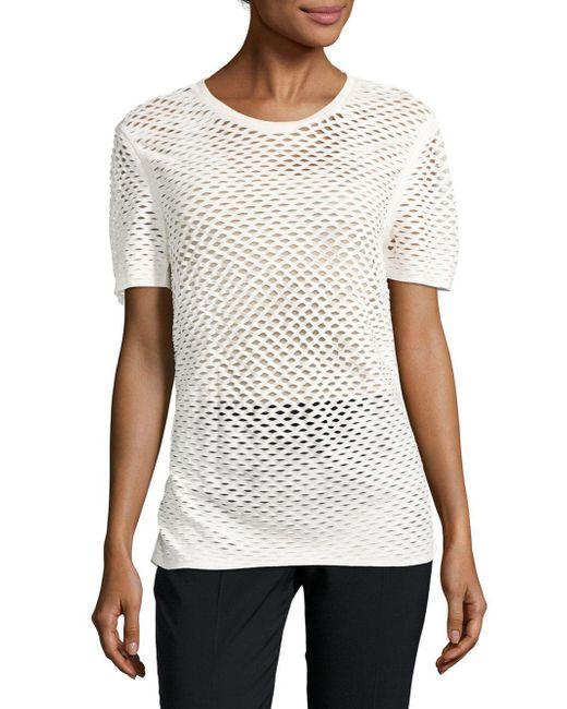 IRO | White Zana Cotton Perforated Top | Lyst