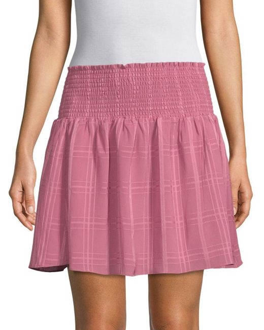 Parker - Pink Smocked Waist Skirt - Lyst