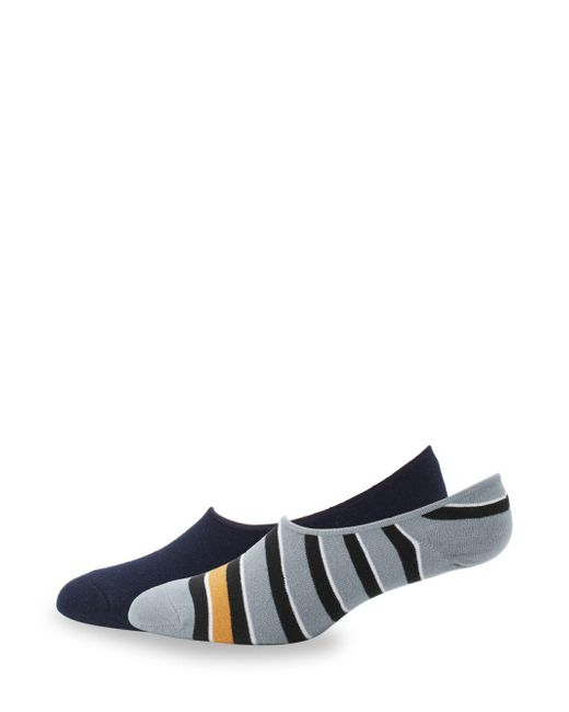Saks Fifth Avenue - Blue Two-pack Striped Liner Socks - Lyst