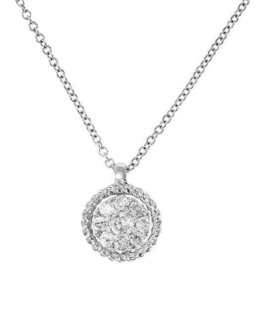 Effy - Metallic Diamond & 14k White Gold Pendant Necklace - Lyst