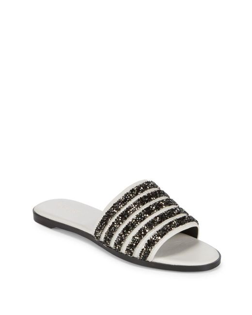 Rachel Zoe - White Rayce Beaded Sandals - Lyst
