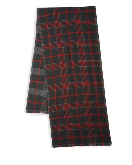 Ferragamo - Multicolor Plaid Wool & Cashmere Scarf for Men - Lyst
