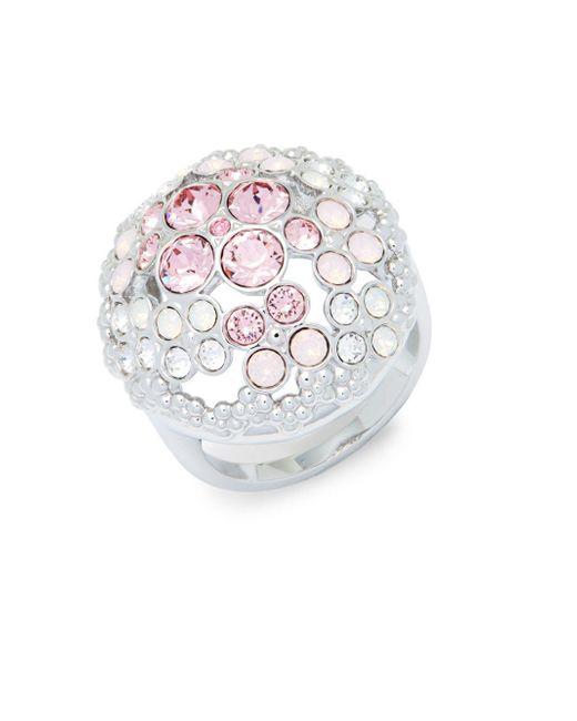 Swarovski - Metallic Crystal Statement Ring - Lyst