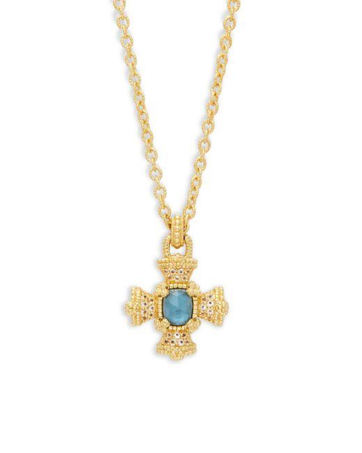 Judith Ripka - Metallic London Blue Topaz & Sterling Silver Pendant Necklace - Lyst
