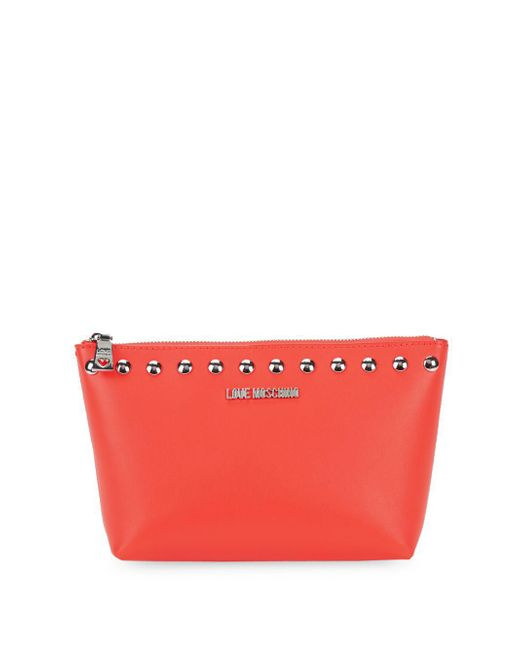 Love Moschino - Orange Bustina Studded Pouch - Lyst