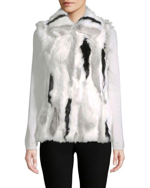 Adrienne Landau - Gray Multi-tone Dyed Rabbit Fur Vest - Lyst