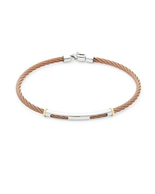 Alor - Metallic 18k Yellow Gold Detail Cable Bracelet - Lyst