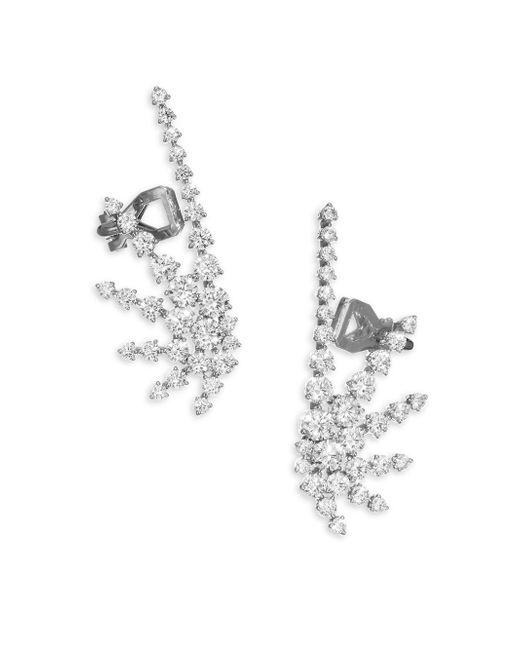 Adriana Orsini | Metallic Crystal Crawler Earrings | Lyst