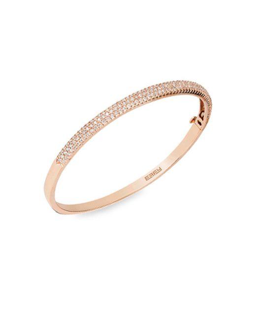 Effy | Metallic Diamond & 14k Rose Gold Bangle Bracelet | Lyst