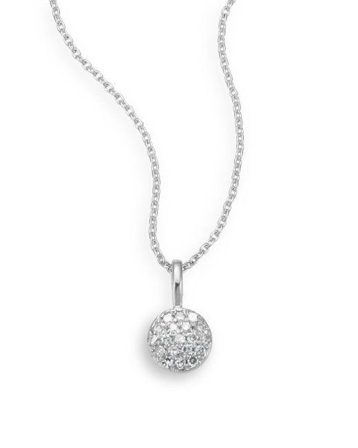 Saks Fifth Avenue - Diamond & 14k White Gold Necklace - Lyst
