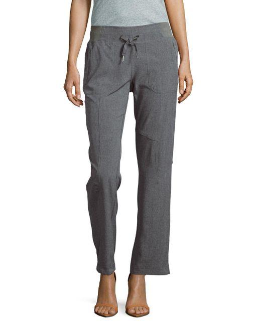 Calvin Klein | Gray Melan Textured Straight-leg Pants | Lyst