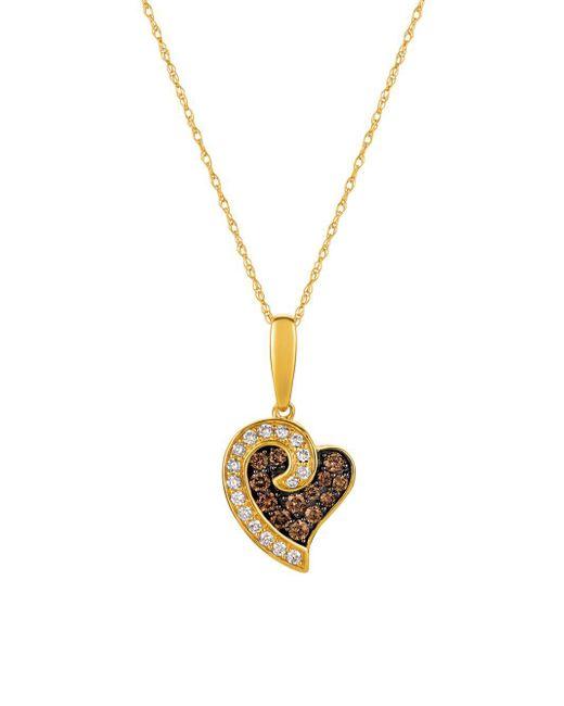 Le Vian | Metallic 14k Honey Gold, Vanilla Diamonds & Chocolate Diamonds Chocolatier Pendant Necklace | Lyst
